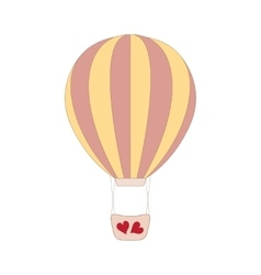Wedding pink balloon on white vector