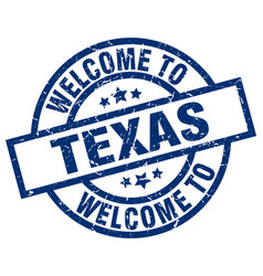 Welcome to texas blue stamp vector