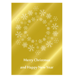 yellow greeting card for christmas - flyer vector image vector image
