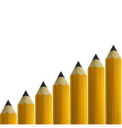 yellow pencils on white background vector image