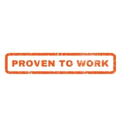 Proven to work rubber stamp vector