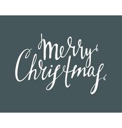Handwrite calligraphic inscription merry christmas vector