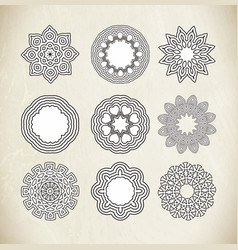 Circle ornament frame vector