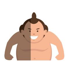 sumo wrestler avatar character vector image