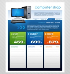 Computer shop template vector
