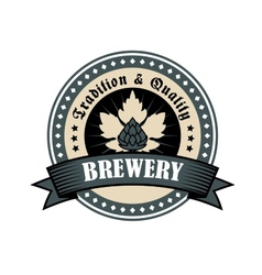 Brewery icon for tradition and quality vector