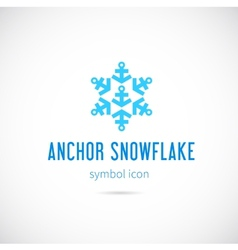 Snowflake from anchors concept symbol icon vector