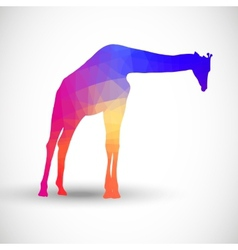 Geometric silhouettes animals giraffe vector