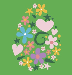 Floral easter design vector