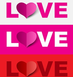 Love design set vector image