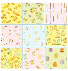 Easter patterns vector
