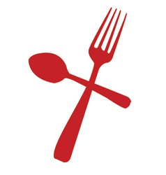 Knife spoon icon vector