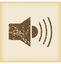 Grungy loudspeaker icon vector
