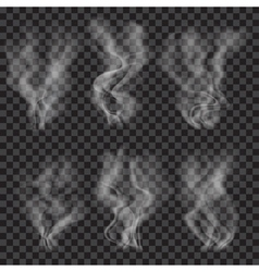 Set of translucent gray smoke vector