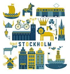 set of Stockholm vector image