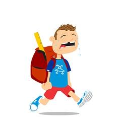Back to school boy vector image