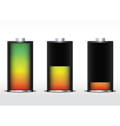 battery gradient vector image