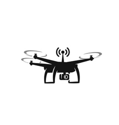 black drone Icon vector image