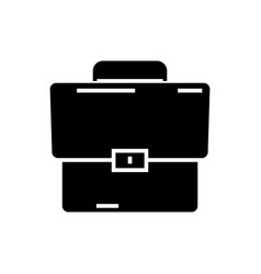 briefcase icon black sign on vector image