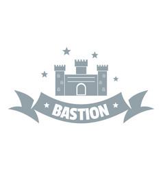 Building bastion logo simple gray style vector