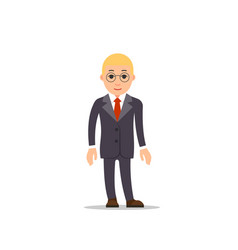 business man business man stands with downcast vector image vector image