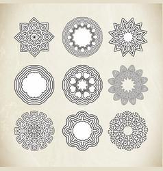 Circle ornament frame vector