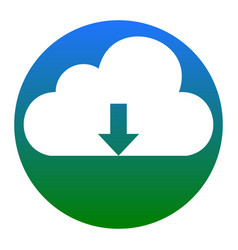 Cloud technology sign white icon in vector