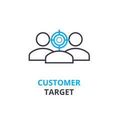 Customer target concept outline icon linear vector