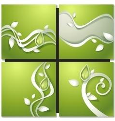 Eco green concept spring card vector image vector image