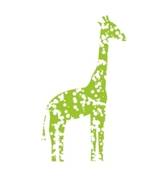 Green Art Giraffe vector image vector image