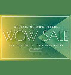 Green sale discount banner poster design template vector