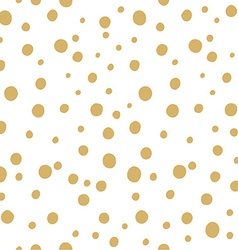 Hand drawn seamless Polka dot background vector image vector image