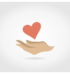 Heart in a hand3 vector