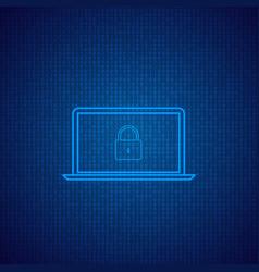 laptop on a digital background vector image