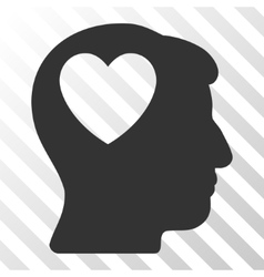 Love heart think icon vector