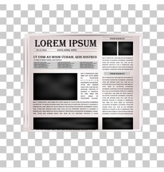 Newspaper headline vector