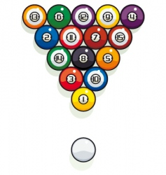 pool billiard balls vector image vector image