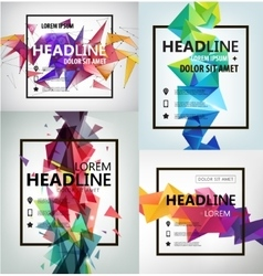 Poster banner flyer cover brochure vector