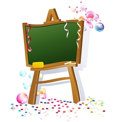School blacboard vector image vector image