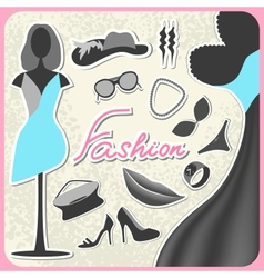Set of fashion vector image