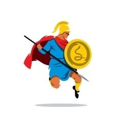 Spartan warrior cartoon vector
