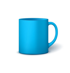 Template ceramic clean mug vector