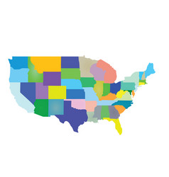 usa map colorful vector image