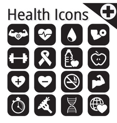 white fitness and health icon vector image