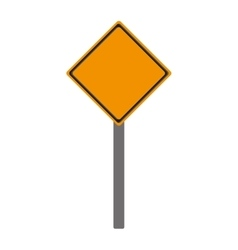 Blank yellow street sign icon vector