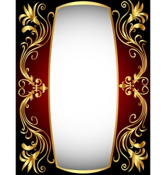 Vintage golden frame vector