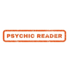Psychic reader rubber stamp vector