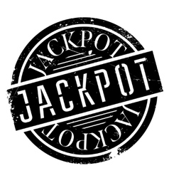 Jackpot rubber stamp vector