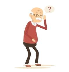 Deaf Old Man Trying to Hear vector image