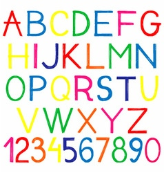 English alphabet and numbers vector